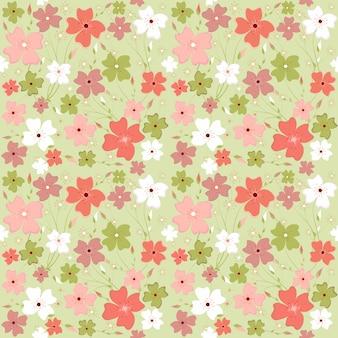 Bezszwowej wiosny kwiecistego wzoru zieleni brzmienie