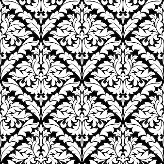 Bezszwowy adamaszkowy wzór dla tła lub tapety projekta
