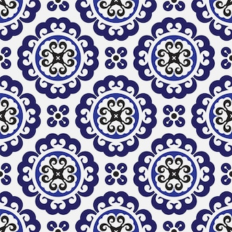 Bezszwowy chiński wzór batiku