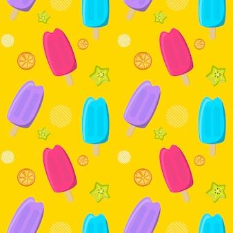 Bezszwowy deseniowy kolorowy lody.