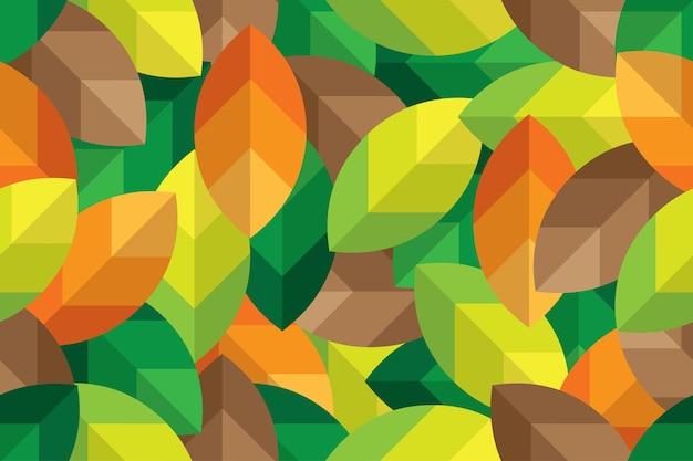Bezszwowy deseniowy tło opuszcza minimalnego stylu ziemi koloru brzmienie
