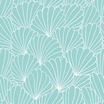 Bezszwowy deseniowy tło z abstrakcjonistycznymi skorupa ornamentami