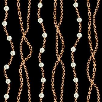 Bezszwowy deseniowy tło z bonkretami i łańcuchami