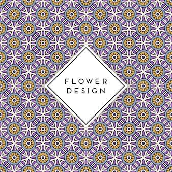 Bezszwowy deseniowy tło z mandala arabskim projektem