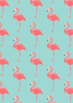Bezszwowy flaminga wzór