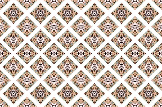 Bezszwowy geometryczny kolorowy wzór tła