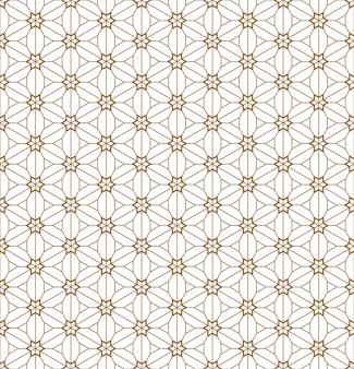 Bezszwowy geometryczny wzór oparty na japońskim ornamentie kumiko.