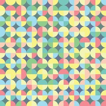 Bezszwowy geometryczny wzór w retro stylu. wektor powtarzający się z geometrycznymi kształtami do projektowania tekstyliów, papieru do pakowania, scrapbookingu.