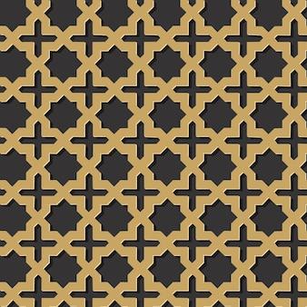 Bezszwowy islamski geometryczny skomplikowany wzór wektor