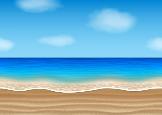 Bezszwowy krajobraz plaży na lato
