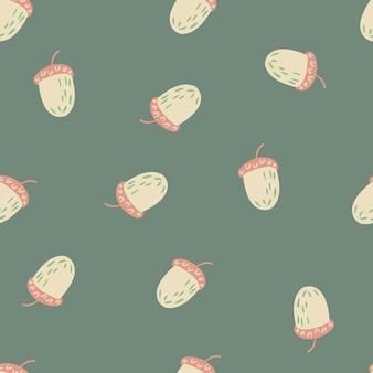 Bezszwowy losowy wzór z doodle kształty kasztanów.