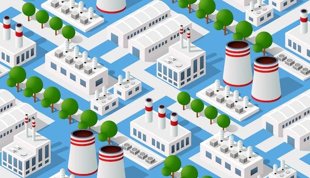 Bezszwowy przemysłowy wzór krajobraz