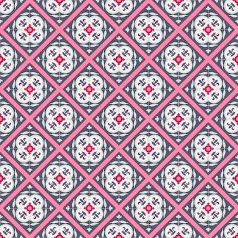 Bezszwowy wektorowy kolorowy arabski geometryczny tradycyjny wzór.
