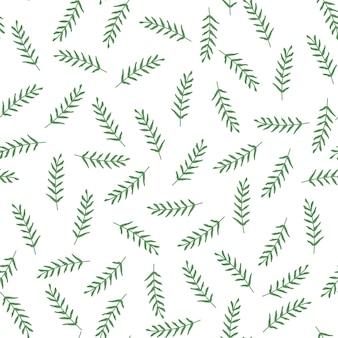 Bezszwowy wektoru wzór z liśćmi i gałąź.