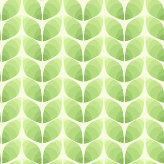 Bezszwowy wzór abstrakcjonistyczni liście.