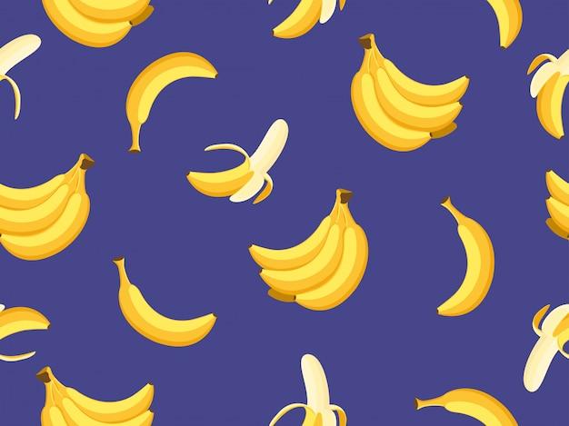 Bezszwowy wzór banany