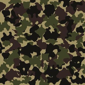 Bezszwowy wzór kamuflażu projektowanie mody do maskowania stylu wojskowego zielony brązowy czarny