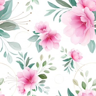 Bezszwowy wzór różowi sakura kwiaty