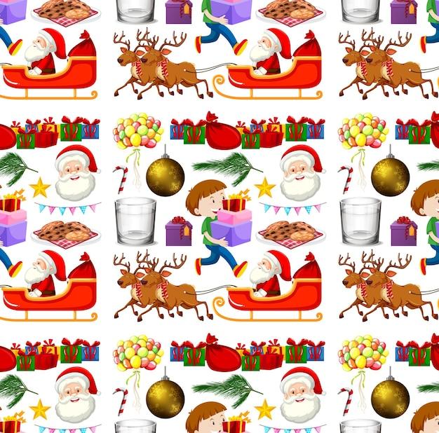 Bezszwowy wzór tła z motywem świątecznym