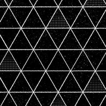 Bezszwowy wzór trójkąta 3d na czarnym tle