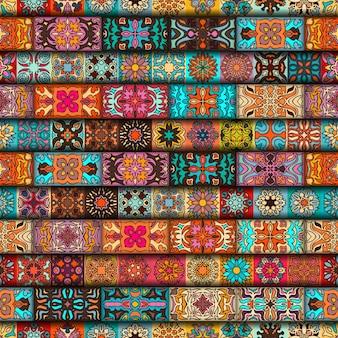 Bezszwowy wzór. vintage elementy dekoracyjne. ręcznie rysowane tła
