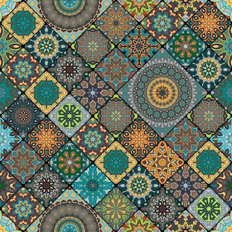 Bezszwowy wzór. vintage elementy dekoracyjne