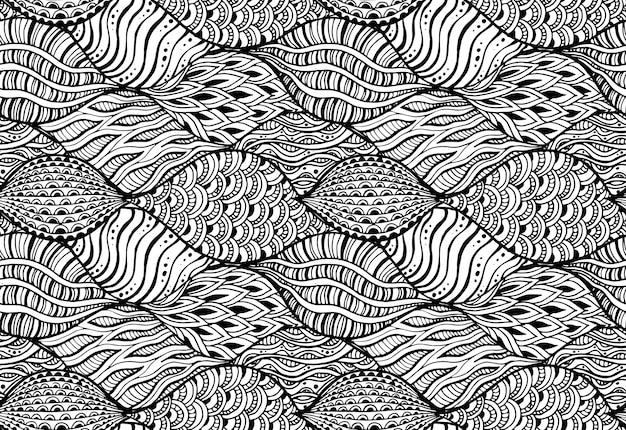 Bezszwowy wzór z abstrakcjonistycznymi elementami.