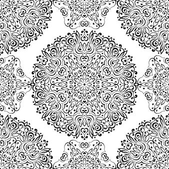 Bezszwowy wzór z abstrakcjonistycznymi etnicznymi ornamentami.