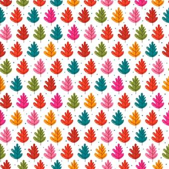Bezszwowy wzór z jesień liśćmi