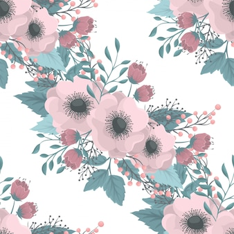 Bezszwowy wzór z kwiatami