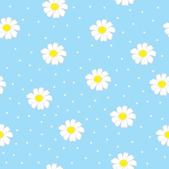 Bezszwowy wzór z kwiatami.