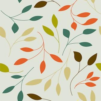Bezszwowy wzór z liśćmi.