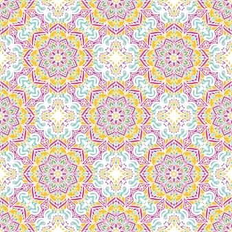 Bezszwowy wzór z mandalas
