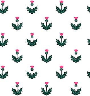 Bezszwowy wzór z osetem. symbol szkocji.