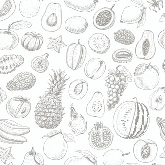 Bezszwowy wzór z owoc