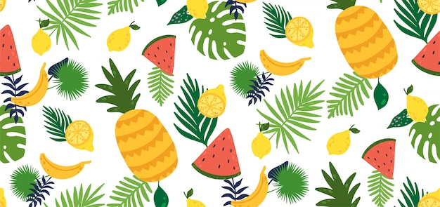 Bezszwowy wzór z żółtą cytryny owoc