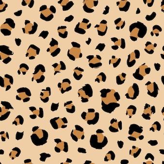 Bezszwowy wzór zwierzęcy z kropkami lamparta kreatywną dziką teksturą dla ilustracji wektorowych do pakowania tkanin
