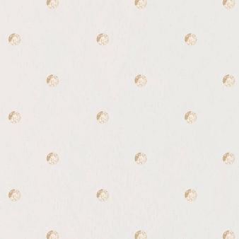 Bezszwowy złoty wzór w kropki na beżowym tle