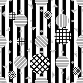 Bezszwowych monochromatycznych dot wzór na pasku tle