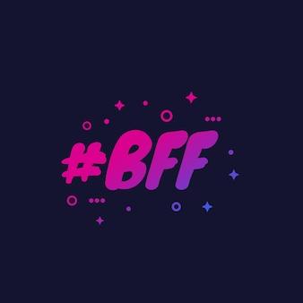 Bff, najlepsi przyjaciele na zawsze, grafika wektorowa