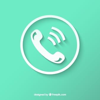 Biała ikona telefonu