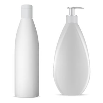 Biała butelka szamponu