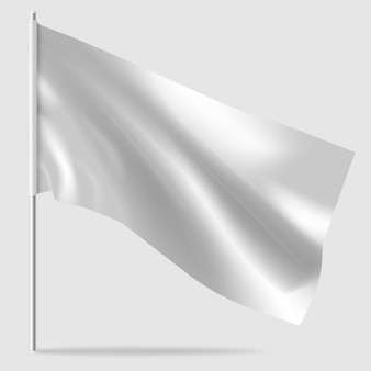 Biała flaga ilustracja