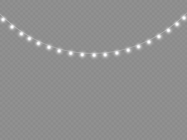 Biała girlanda świetlna led neony