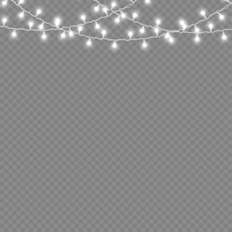 Biała girlanda świetlna led ozdoby choinkowe z neonami