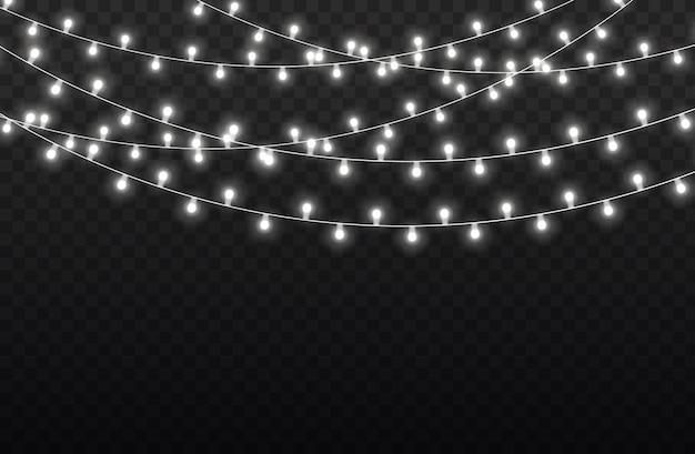 Biała girlanda świetlna ozdoby choinkowe led neony