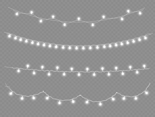 Biała girlanda świetlna ozdoby z neonów