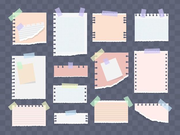 Biała i kolorowa notatka w paski, zeszyt, zeszyt