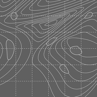 Biała i szara abstrakcjonistyczna konturowa mapa