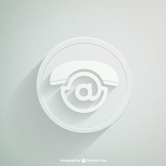 Biała ikona kontakt